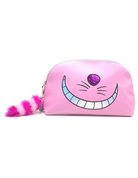 Alice Au Pays Des Merveilles Cheshire Cat Trousse de Toilette rose/noir