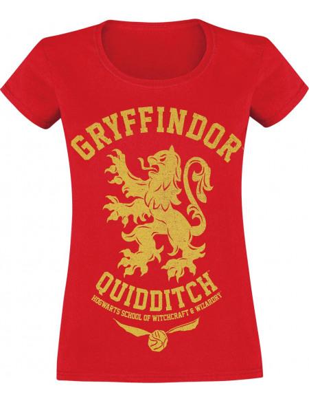 Harry Potter Gryffondor - Quidditch T-shirt Femme rouge