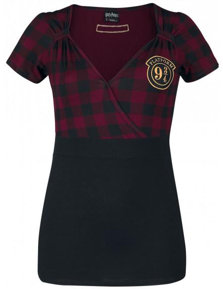 Harry Potter Platform 9 3/4 T-shirt Femme rouge/noir