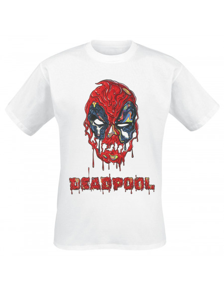 Deadpool Taco Sauce T-shirt blanc