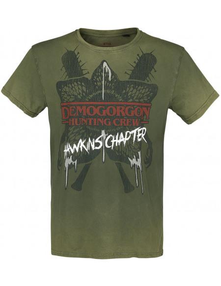 Stranger Things Demogorgon - Hunting Crew T-shirt vert