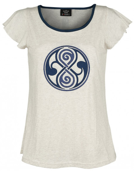 Doctor Who Timelord T-shirt Femme crème marbrée