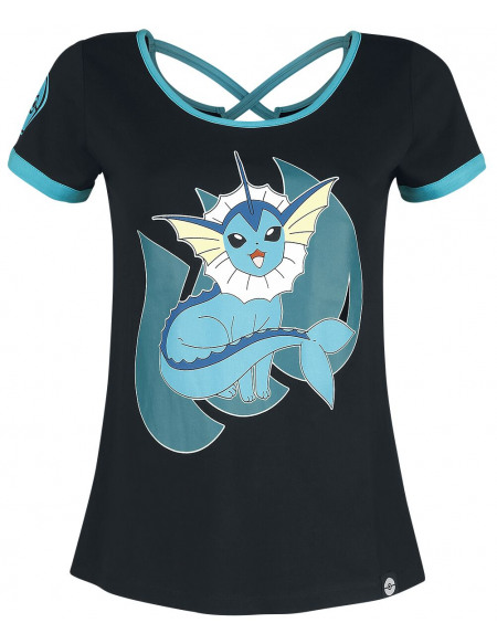 Pokémon Aquali T-shirt Femme noir