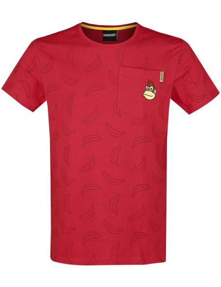 Super Mario Donkey Kong T-shirt rouge