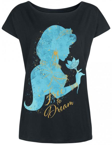 Aladdin Jasmin - Free To Dream T-shirt Femme noir
