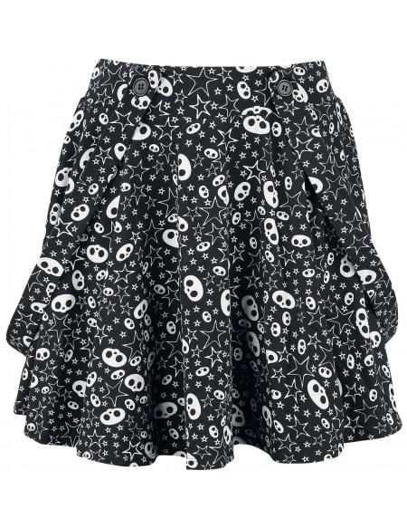 Skelanimals Allover Mini-jupe noir