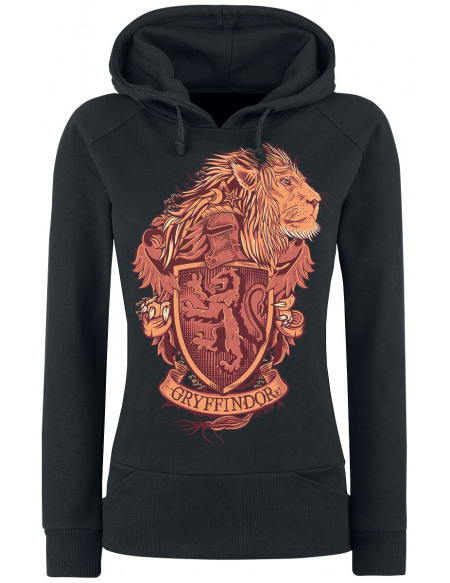 Harry Potter Gryffondor Sweat à Capuche Femme noir