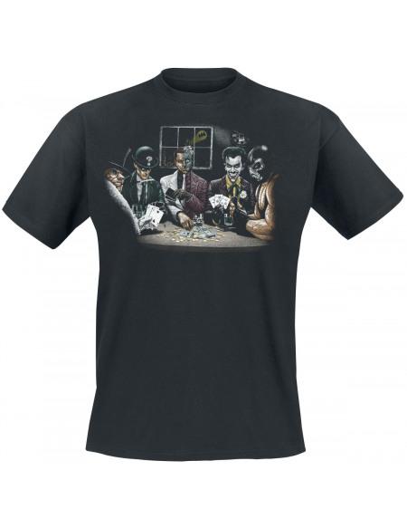 Batman Méchants Poker T-shirt noir