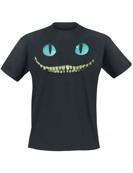 Alice Au Pays Des Merveilles Le Chat Du Cheshire - Smile T-shirt noir