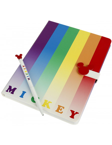 Mickey & Minnie Mouse Micky Rainbow Cahier multicolore