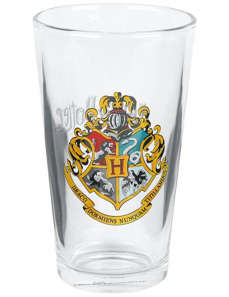 Harry Potter Emblème Poudlard Verre à pinte transparent