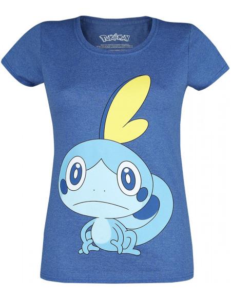 Pokémon Épée & Bouclier - Larméléon T-shirt Femme bleu chiné