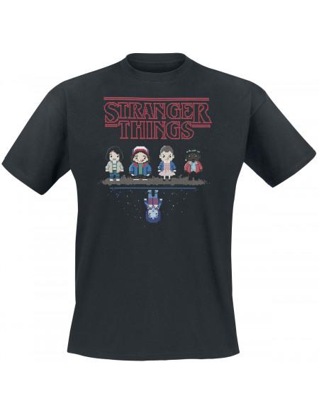 Stranger Things 8 bit T-shirt noir