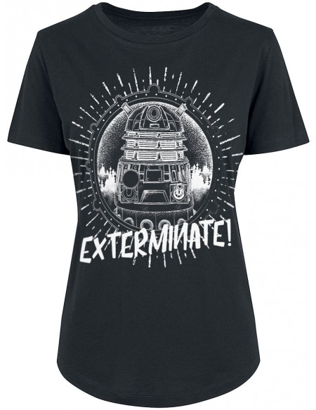 Doctor Who Dalek - Exterminate T-shirt Femme noir