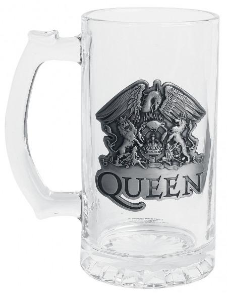Queen Crest Chope à bière transparent