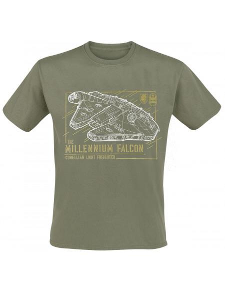 Star Wars Faucon Millenium T-shirt vert