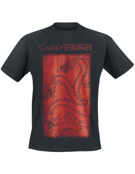 Game Of Thrones Targaryen Dragon T-shirt noir
