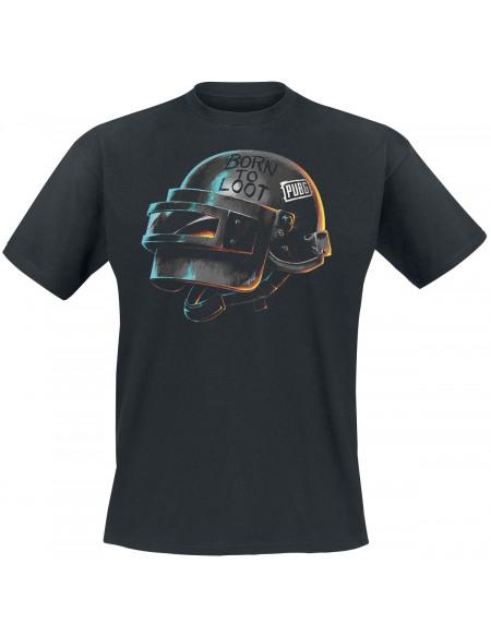 Playerunknown's Battlegrounds PUBG - Born To Loot - Helmet T-shirt noir