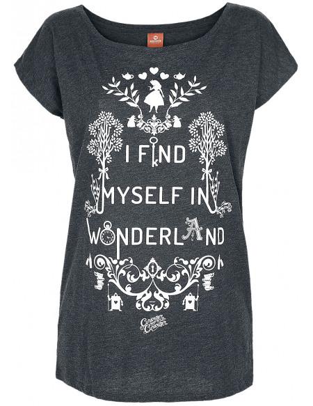 Alice Au Pays Des Merveilles T-shirt Femme gris chiné