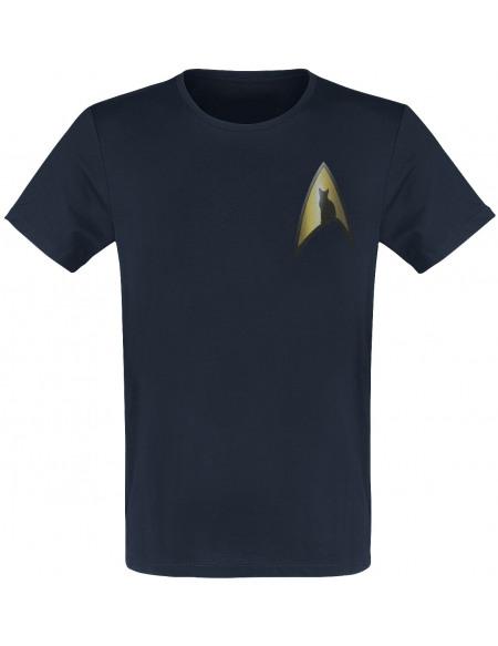 Star Trek To Go, Where No Cat Has Gone Before T-shirt marine