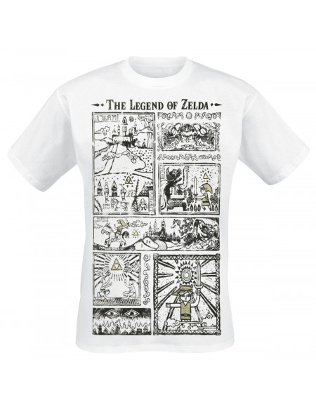 The Legend Of Zelda Dessins T-shirt blanc
