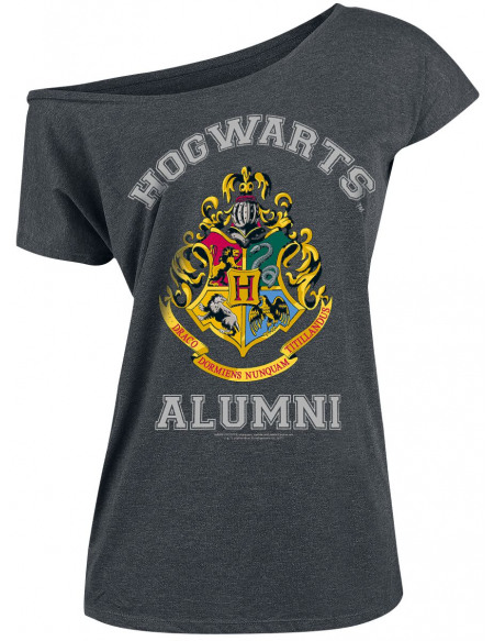 Harry Potter Alumni T-shirt Femme gris sombre chiné