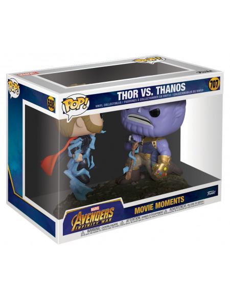 Marvel Figurine En Vinyle Thor vs.Thanos (Movie Moments) 707 Figurine de collection Standard