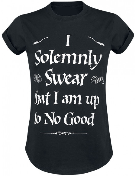 Harry Potter Solemnly Swear T-shirt Femme noir