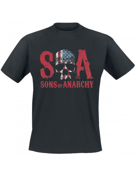 Sons Of Anarchy Reaper Flag T-shirt noir