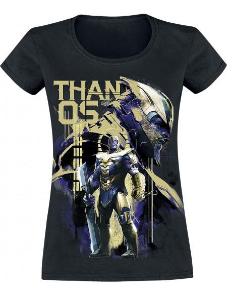 Avengers Endgame - Warlord Thanos T-shirt Femme noir