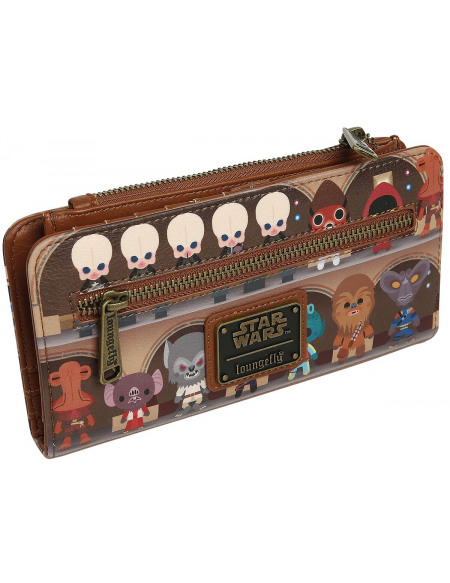 Star Wars Loungefly - Chibi Portefeuille marron