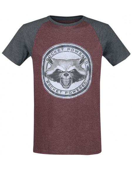 Les Gardiens De La Galaxie Rocket Powered T-shirt bordeaux chiné/anthracite chiné
