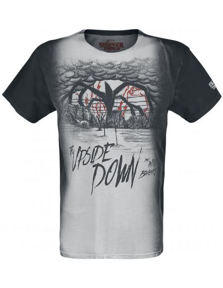 Stranger Things Upside Down T-shirt noir