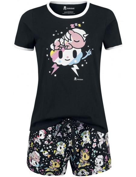 TokiDoki Licorne & Nuage Pyjama noir