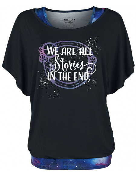 Doctor Who All Stories In The End T-shirt Femme noir/multicolore