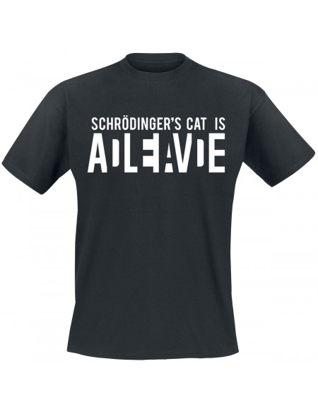 Schrödinger's Cat Is Alive T-shirt noir
