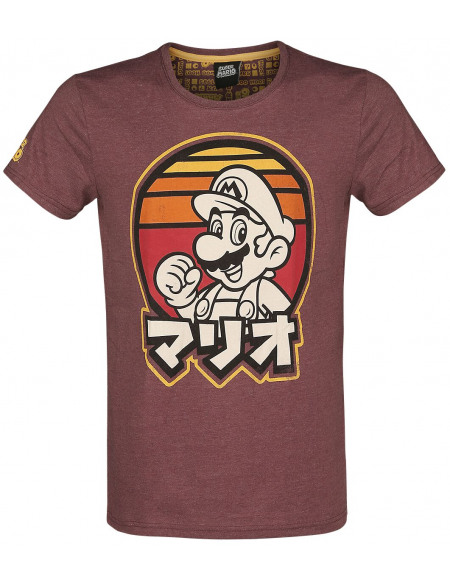 Super Mario Rétro T-shirt rouge chiné