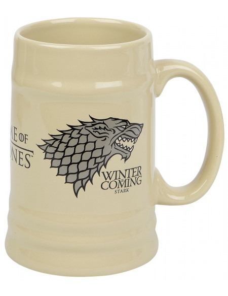 Game Of Thrones Maison Stark Chope à bière beige
