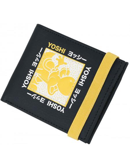 Super Mario Yoshi Portefeuille noir/jaune