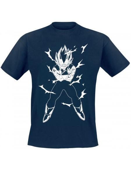 Dragon Ball Z - Vegeta T-shirt bleu foncé