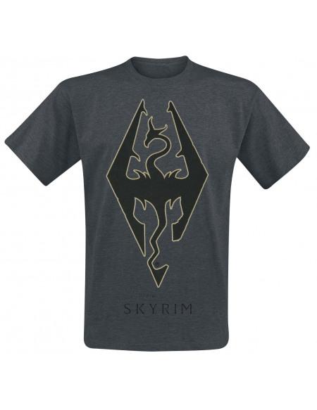 The Elder Scrolls The Elder Scrolls V - Skyrim - Emblem T-shirt gris sombre chiné