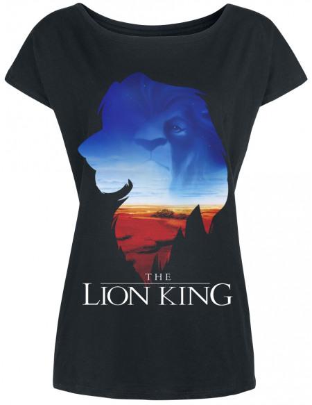 Le Roi Lion Royaume T-shirt Femme noir
