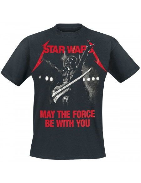 Star Wars May The Force Vador T-shirt noir