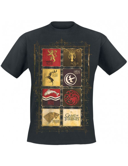Game Of Thrones Logos T-shirt noir