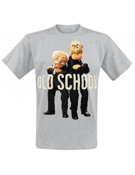 Le Muppet Show Old School Statler & Waldorf T-shirt gris chiné