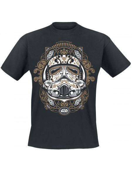 Star Wars Trooper De Los Muertos T-shirt noir