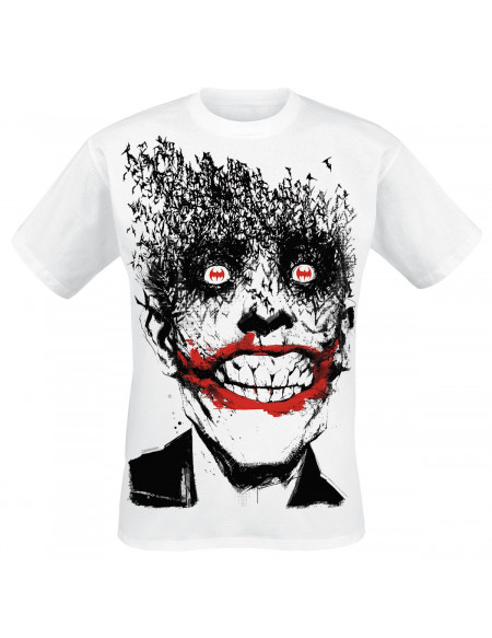 Le Joker Smile T-shirt blanc