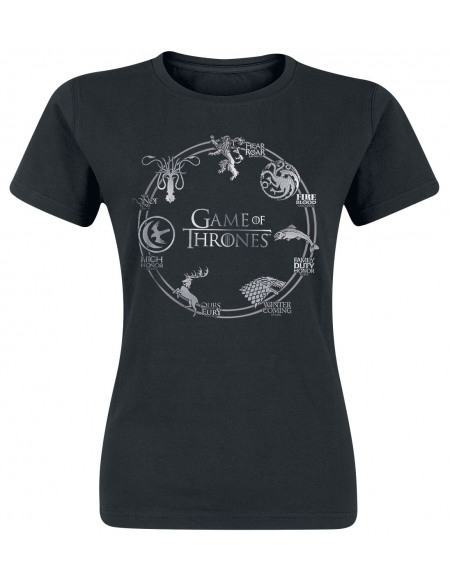 Game Of Thrones Logo Cercle T-shirt Femme noir