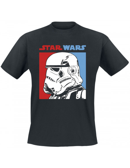 Star Wars Stormtrooper Bicolore T-shirt noir