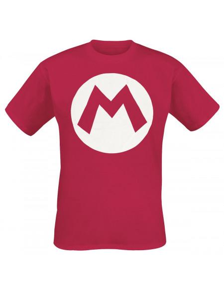 Super Mario M T-shirt rouge